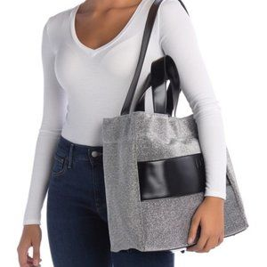 Big Sparkly Deux Lux Flow Tote in silver